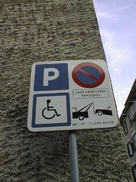la s curit routi re autour de l 39 cole jean mac grenoble parking pour handicap. Black Bedroom Furniture Sets. Home Design Ideas